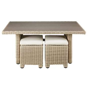 SARDAIGNE Garden table in resin wicker (65 x 150cm)