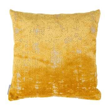 Sarona Velvet Cushion in Yellow 45 x 45cm