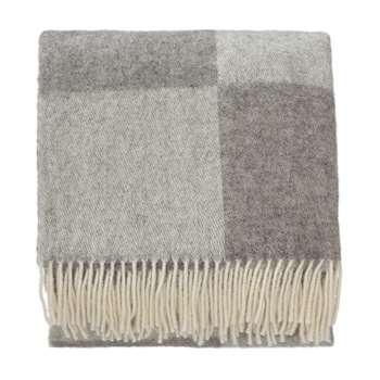 Saskatoon Wool Blanket, Grey & Light Grey (140 x 220cm)