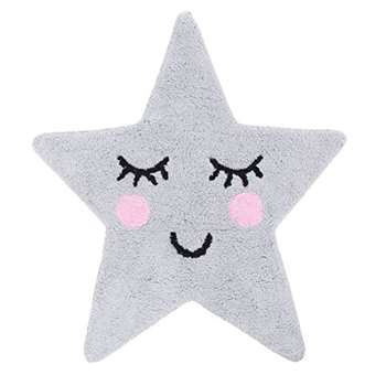 Sass & Belle Sweet Dreams Star Rug - Grey (70 x 67cm)