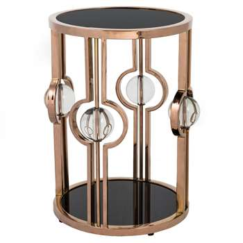 Saturn Lamp Table - Rose Gold (H50 x W39 x D39cm)