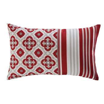 SAUBRIGES printed red fabric outdoor cushion 30 x 50 cm