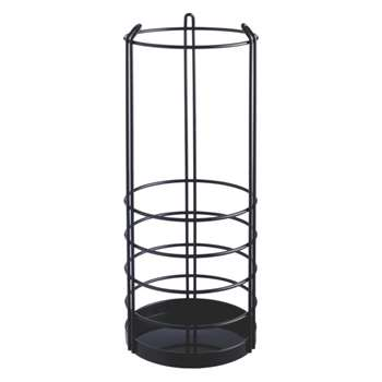 Saunders Black metal umbrella stand
