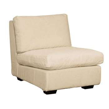 Savile Armless Sofa Chair - Natural (78 x 76cm)