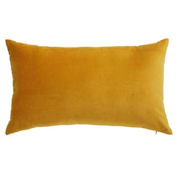 SAVORA mustard yellow velvet cushion (30 x 50cm)