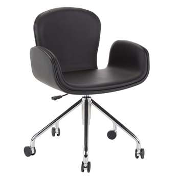 Says Who for John Lewis Cotta Office Chair, Black (H86 x W45 x D54cm)