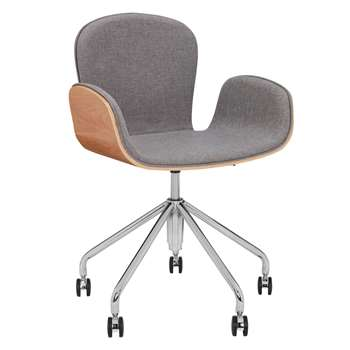 Says Who for John Lewis Cotta Office Chair, Grey (H86 x W45 x D54cm)
