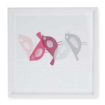 Scandi Birds Framed Print (H25 x W25cm)