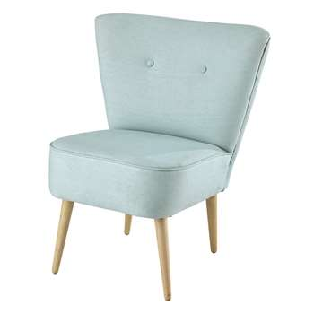SCANDINAVE Cotton vintage armchair in turquoise (73 x 63cm)