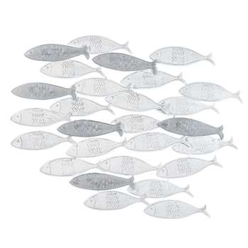 School Of Fish Metal Wall (70 x 56cm)