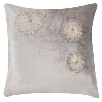 SCINTILLA Cotton Cushion Cover with Bead Embroidery (H40 x W40cm)