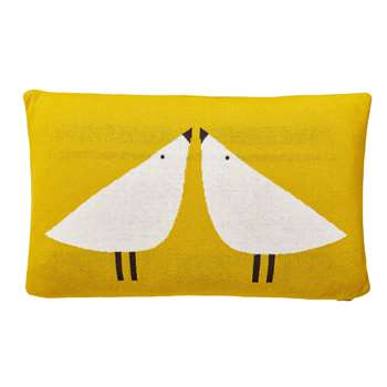 Scion Lintu Knitted Cushion, Yellow (H30 x W50cm)