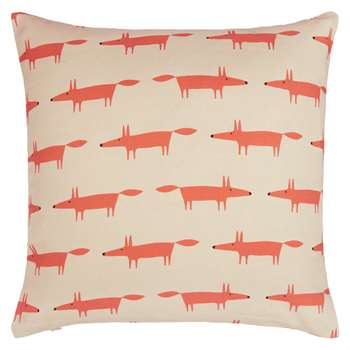 Scion Mini Mr Fox Cushion, Orange / Beige (40 x 40cm)