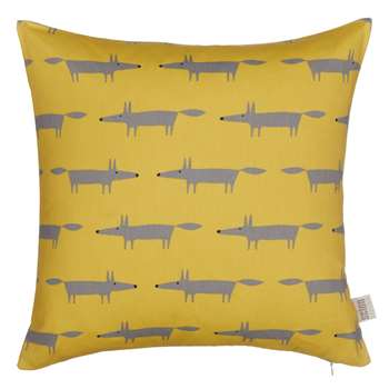 Scion Mini Mr Fox Cushion, Sulphur (H40 x W40cm)