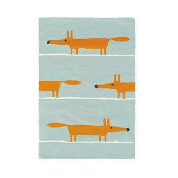 Scion - Mr Fox Rug - Aqua - 140x200cm