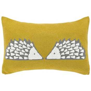 Scion Spike The Hedgehog Cushion Ochre (30 x 50cm)