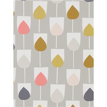 Scion Sula Wallpaper, Flamingo / Honey 111323