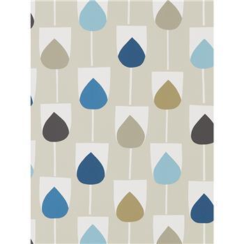 Scion Sula Wallpaper, Indigo / Sapphire 111322