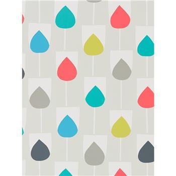 Scion Sula Wallpaper, Julep / Watermelon 111324