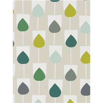 Scion Sula Wallpaper, Juniper / Kiwi 111321