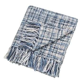 Scion - Usoko Knitted Throw - Blue - 130x180cm (H130 x W180cm)