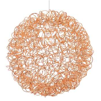 Scribble Pendant Light Shade Large Copper (H40 x W40 x D40cm)