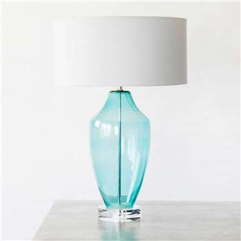 Sea Blue Tosca Table Lamp (H49 x W22 x D22cm)