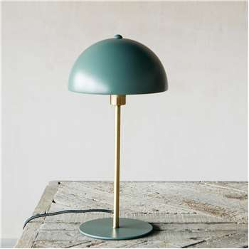 Sea Green Bonnet Lamp (H39 x W20 x D20cm)