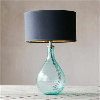 Sea Green Honeycomb Glass Lamp (35 x 18cm)