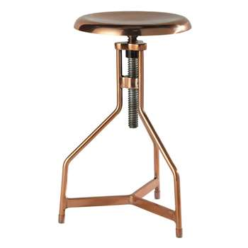 SEAN copper effect metal stool (69 x 37cm)