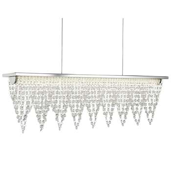 Searchlight Drape LED Waterfall Bar Ceiling Light Crystal (H120 x W65cm)