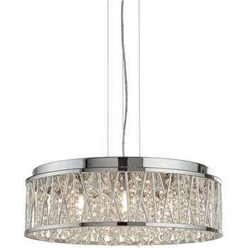 Searchlight Elise 7 Light Ceiling Light (H13.6 x W48 x D48cm)