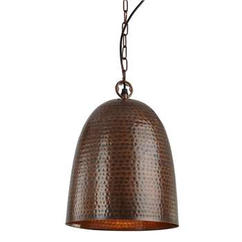 Searchlight Hammered Bell Pendant Ceiling Light (H142 x W31.5 x D31.5cm)