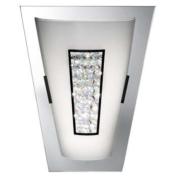 Searchlight LED Wall Bracket Polished Chrome (H30 x W25 x D12.5cm)