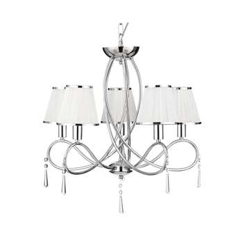 Searchlight Simplicity 5 Light Ceiling Light Polished Chrome (H114 x W54.5 x D54.5cm)