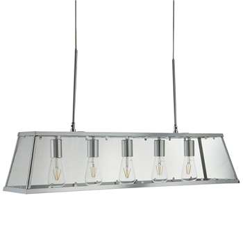 Searchlight Voyager 5 Light Ceiling Light Polished Chrome (H100 x W90 x D50cm)