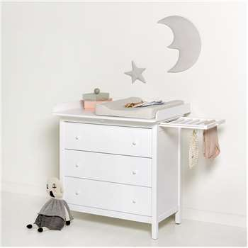 Seaside Nursery Dresser in White (91 x 91cm)