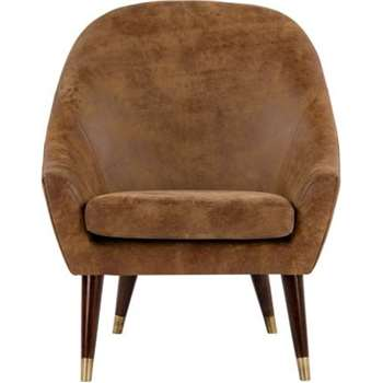 Seattle Armchair, Outback Tan Premium Leather (88 x 74cm)