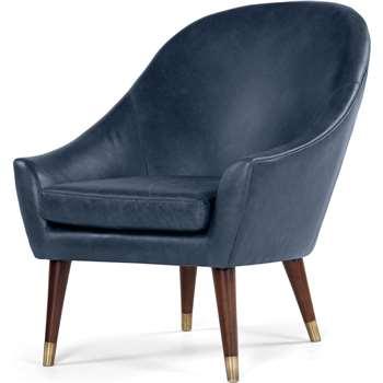 Seattle Armchair, Oxford Blue Premium Leather (88 x 74cm)