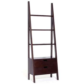 Seba Ladder Bookcase With Drawers (180 x 64cm)