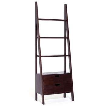 Seba Ladder Bookcase With Drawers (180 x 64cm)