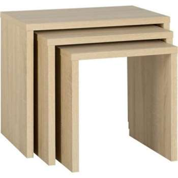 Seconique Cambourne Nest of Tables in Oak (51 x 56cm)