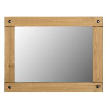 Seconique Corona Large Wall Mirror in Distressed Waxed Pine (91.5 x 70cm)