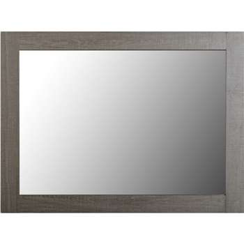 Seconique Lisbon Mirror in Black Wood Grain (80 x 60cm)