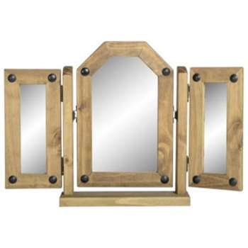Seconique Original Corona Pine Triple Swivel Mirror (46 x 82cm)
