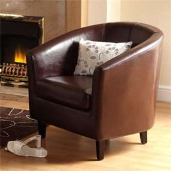 Seconique Tempo Tub Chair in Brown