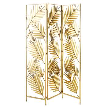SELENA Gold Metal Leaf Screen (H180 x W121 x D2cm)