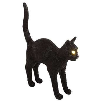 Seletti - Jobby The Cat Lamp, Black (H52 x W46 x D12cm)