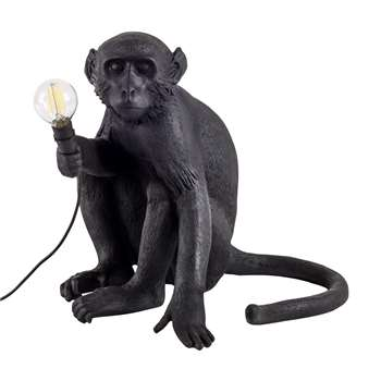 Seletti - Monkey Lamp - Sitting - Black (H32 x W30 x D34cm)