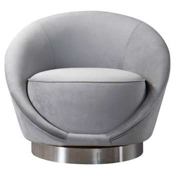 Selini Swivel Chair - Dove Grey (H76 x W88 x D79cm)